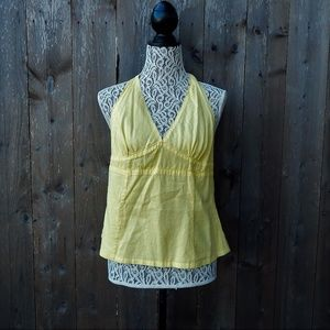 Yellow Halter Top Large